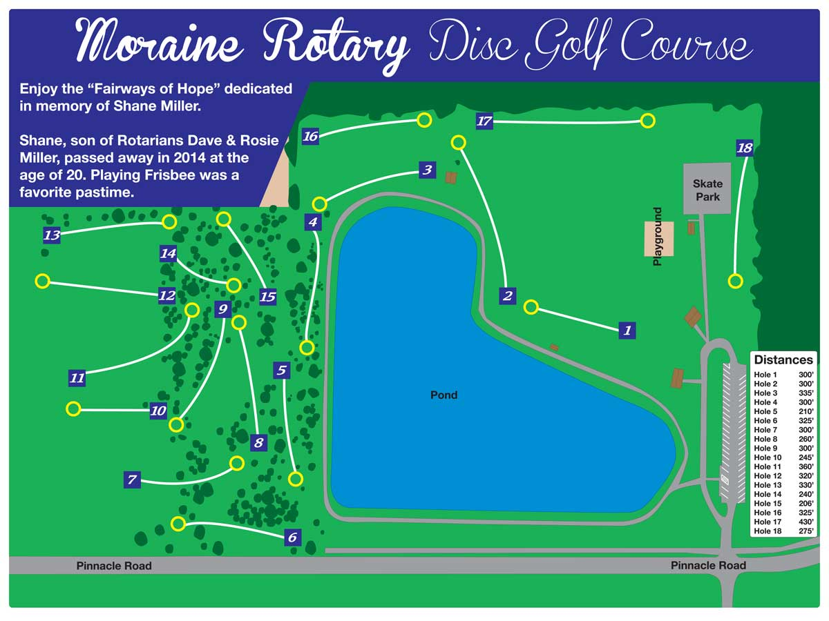 Moraine Ohio Map.Disc Golf Course The City Of Moraine